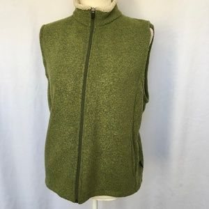 Kuhl Green Alfpaca Fleece Zip Up Vest Size L